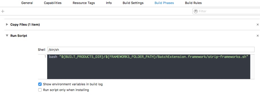 Xcode Run Script Phase