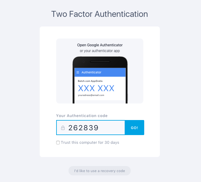 Two Factor Authentification