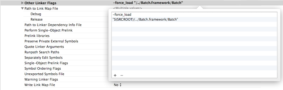XCode Force Load