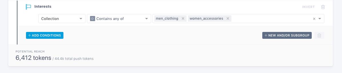 User interests