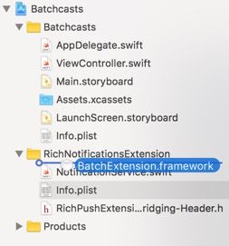 iOS / SDK integration / Rich notifications setup – Batch