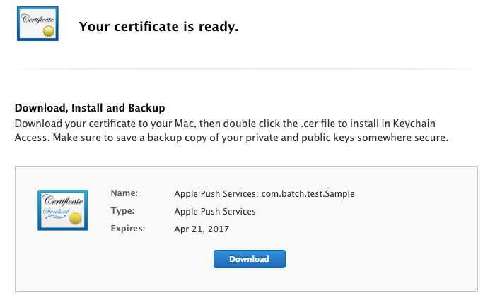 Generate Certificate