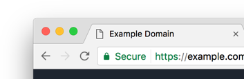 Secure website example