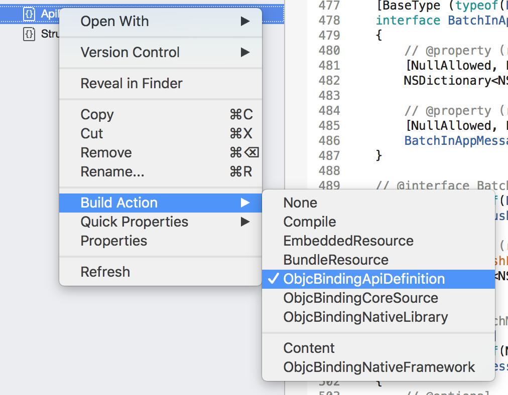 iOS Build Action
